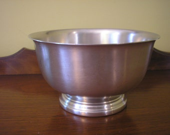 Vintage Pewter Revere Style Bowl, by Americana