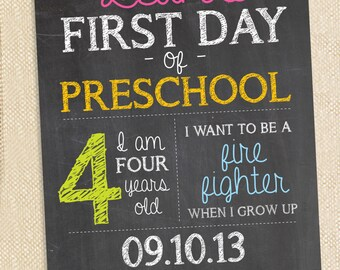 Back to school chalkboard print - 11x14
