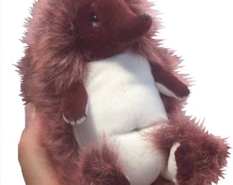 Privet a non-prickly soft toy hedgehog sewing pattern