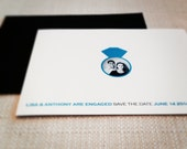 Engagement Ring Save the Date or Announcement