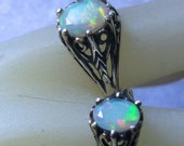 Genuine Opal Ethiopian Wello Mine Sterling Silver Filigree Custom Ring Handmade size 5 6 7 8 9 10 half 8x6mm or 7x5mm faceted fine jewelry