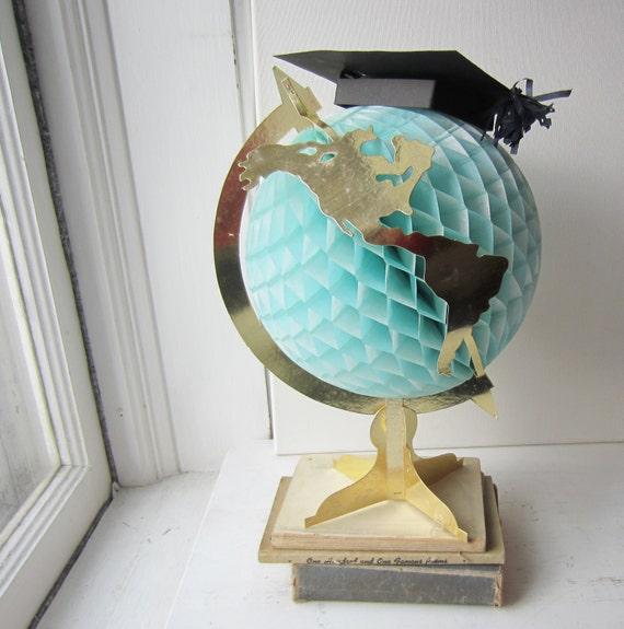Vintage World Globe Graduation Centerpiece Nursery Decor