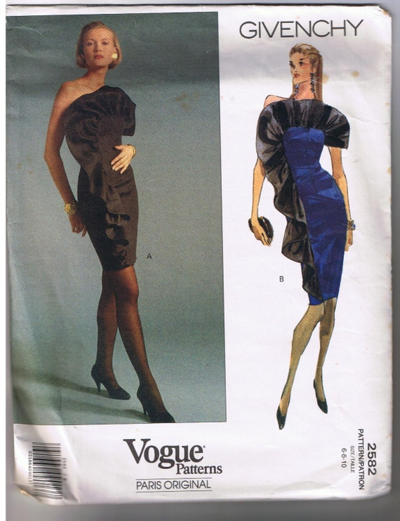 Vogue Pattern Givenchy Paris Original Dress Pattern 2582