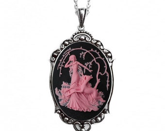 Artemis Deer Cameo Necklace