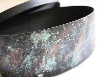 Oval Galaxy Box - OOAK Custom Box
