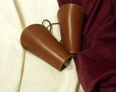 Brown Latigo Leather Bracers Set SCA LARP SALE