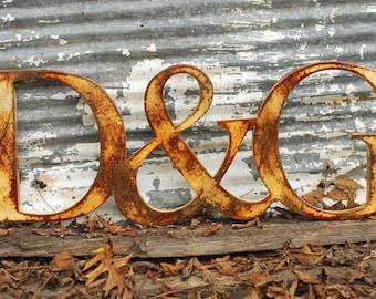 Metal Letters,Vintage Inspired Letters, Custom Metal Typography