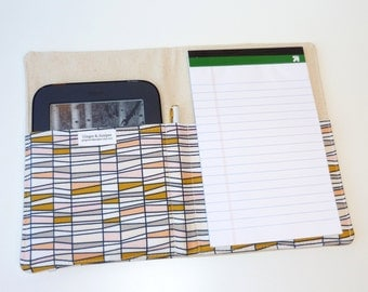 Notepad Organizer / List Taker / Portfolio / iPad Mini /e-Reader Case- Basket of Wheat