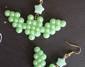 Green Bat Earrings