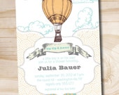 Away We Go Baby Shower Invitation - You Print