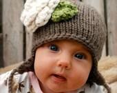 Knitting PATTERN-The Baby Ferynn Cap (0/3-3/6-6/12 month sizes)