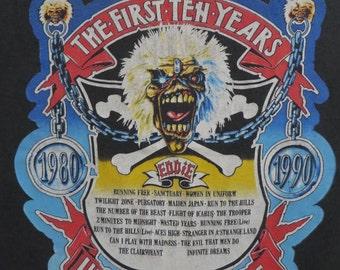 IRON MAIDEN vintage 1990 tour T SHIRT