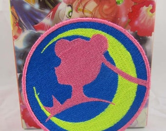 Sailor Guardian of the Moon Profile Machine embroidered Iron on or Sew on Patch