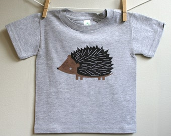 Kids t-shirt, hedgehog tshirt, toddler hedgehog t-shirt. 2T - 5T.