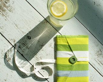 Kindle pouch. Striped kindle pouch