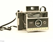 Polaroid Automatic M80 Land Camera Kit with Pack of Film black and white, Flash, Case, Instructions vintage retro decor bellows kitschy 1970