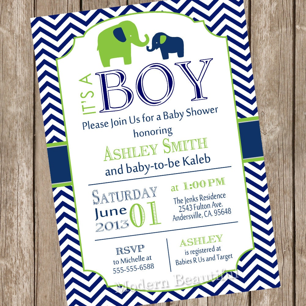 elephant boy baby shower invitation elephant baby shower