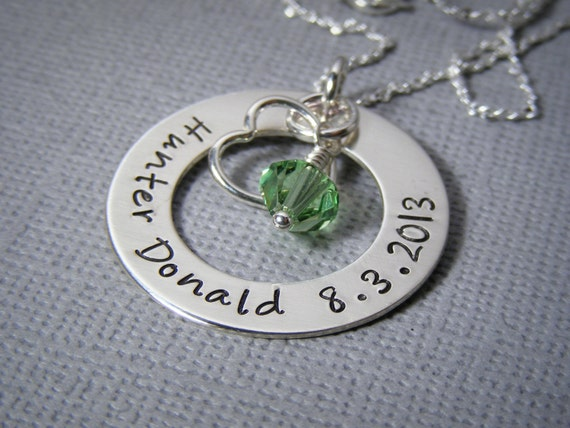 Personalized Mother's Necklace - Hand Stamped Jewelry - Mom Necklace - Personalized Mommy Jewelry - Name Necklace - Grandmother Necklace