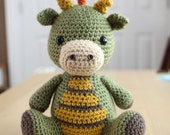 Amigurumi Crochet Pattern - Spike the Dragon
