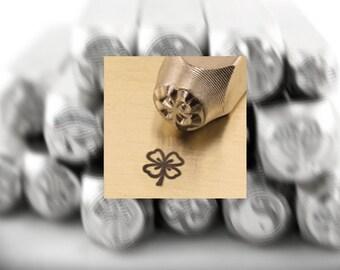 Metal Stamps ImpressArt 6mm Four Leaf Clover Design Stamp (4960)