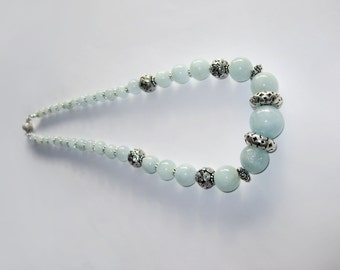 Classic Aquamarine In Sterling Silver Necklace