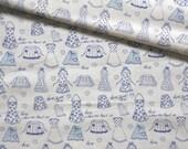 Japanese Fabric Cotton Yuwa - Home Sweet Home - half yard