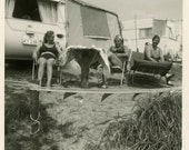 "Vintage Photo ""Trailer Park"", Photography, Paper Ephemera, Snapshot, Old Photo, Collectibles - 0132"