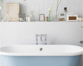 Soak Your Troubles Away - Bathroom Decor, Bathroom Wall Decal, Bathroom Wall Art, Bathroom Vinyl Decal, Vinyl Sticker, Custom Bathroom 36x19