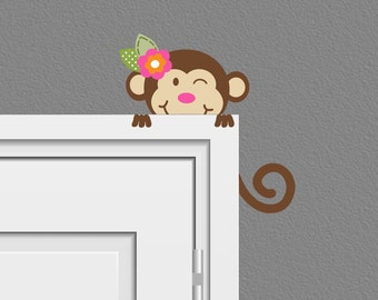 Safari Peeking Monkey Wall Decal Children