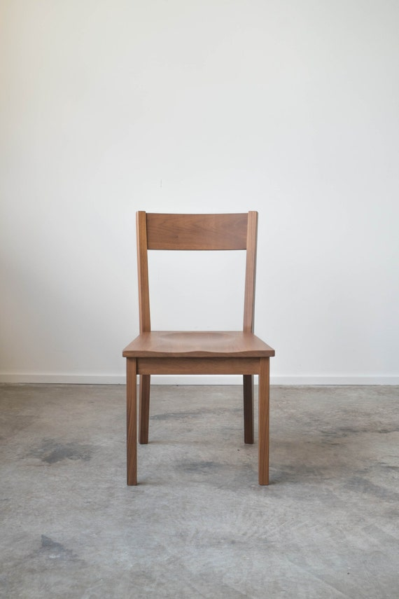 solid walnut ventura chair dining chair