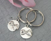 Gift Set 2 Pinky Promise Key Chains Best Friend Key Chain Couples Set Love Friendship Hands Charm Pinkie Swear KeyChain His Hers Key Ring