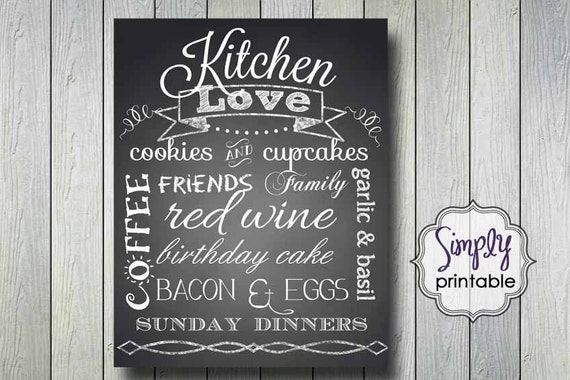 Kitchen Love Wall Print 11x14 DIGITAL