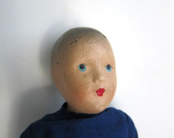 Litte Boy Composition Doll in Blue
