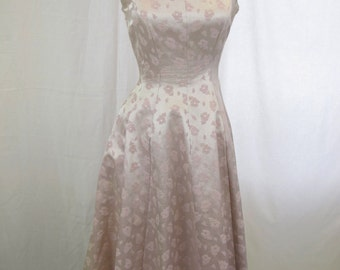 1950s Lavender Party Dress Back Buttons