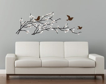 Pussy Willow Wall Decal Blossoming Branch. Catkins wall sticker decal living room decor