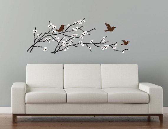 Items Similar To Pussy Willow Wall Decal Blossoming Branch