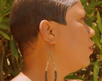 Amoke - tribal - earrings -African Jewelry-Tribal Jewelry-Ethnic Jewelry-Womens Jewelry-Afrocentric Jewelry--Fashion Jewelry