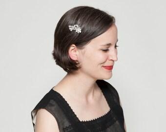 Vintage 1930s Rhinestone Dress Clip - Shooting Star - Bridal Fashions