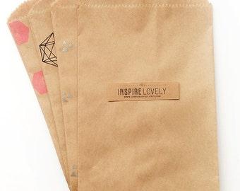 20 Large Kraft Paper Bags