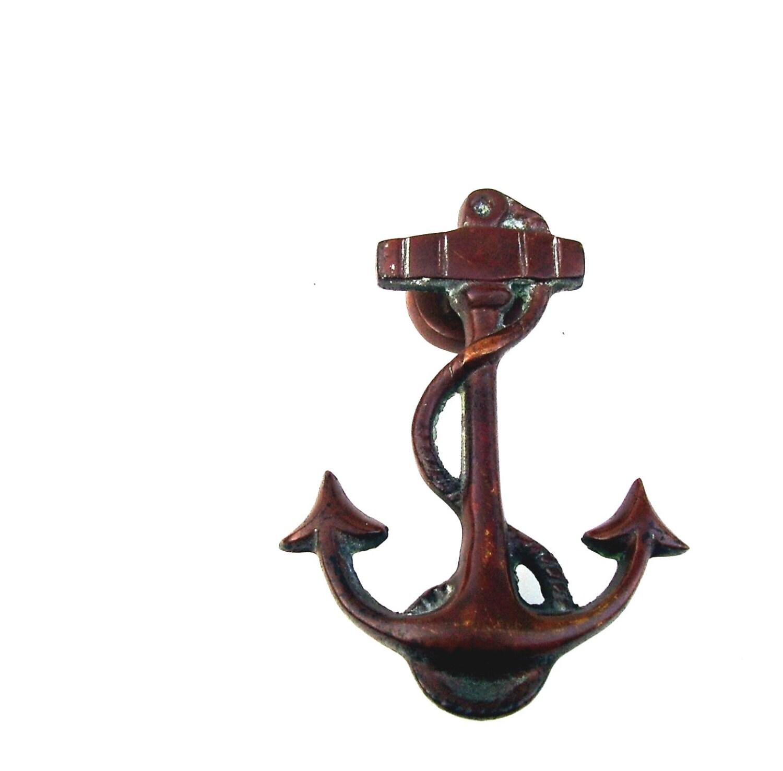 Vintage door knocker nautical anchor bronze by oceansidecastle - Nautical door knockers ...