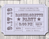 Bachelorette Party Invitation-  Admission Ticket Stub- Print Order Deposit or Digital File Setup for DIY Printing