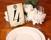 Vintage Wedding Table Numbers, Skeleton Key Hole Customized Wedding Reception Decor, Wedding Sign, Choose your Color