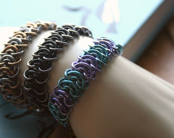 Centipede Chainmaille Bracelet Your Choice of Colors
