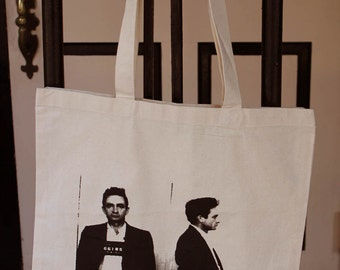 Johnny Cash Mug Shot Tote Bag