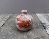 Vintage Japanese Sakura Blossom Vase / Japanese Pottery Vase