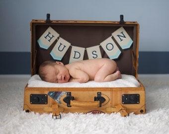 Custom Baby Name Banner - Newborn Photo Shoot Prop