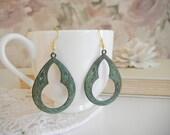 Art Deco Earrings - Antique Finish Earrings - Bohemian Earrings