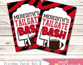Football Theme Custom Favor Tags - Birthday Party - Tailgate Party - DIY You Print