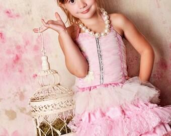 Isla Eve Pink And Cream Headband
