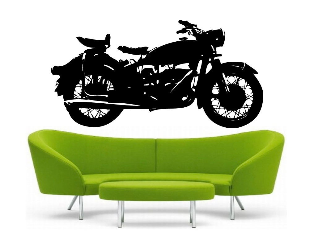 Classic Motorcycle Vinyl Wall DECAL BMW R Harley Davidson - Harley davidsons motorcycles stickers